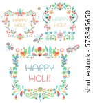 bright floral ornament ... | Shutterstock .eps vector #578345650