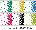 set of backgrounds of geometric ... | Shutterstock .eps vector #578351584
