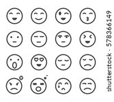 emoticon set  icons | Shutterstock .eps vector #578366149