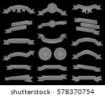 embroidered silver ribbons and... | Shutterstock . vector #578370754