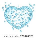 bubbles heart | Shutterstock .eps vector #578370820
