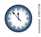 blue realistic vintage clock... | Shutterstock . vector #578371768