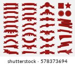big set of embroidered red... | Shutterstock . vector #578373694