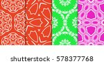 set of seamless decorative... | Shutterstock .eps vector #578377768