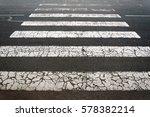 crosswalk on a road with zebra...   Shutterstock . vector #578382214