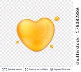 heart shaped honey drop on...   Shutterstock .eps vector #578382886