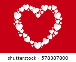 valentine's day heart flat lay... | Shutterstock .eps vector #578387800