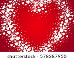 heart shape valentine's day... | Shutterstock .eps vector #578387950