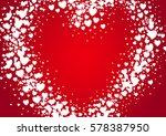 heart shape valentine's day... | Shutterstock .eps vector #578387950