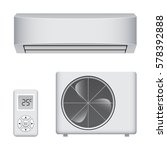 air conditioner parts set ... | Shutterstock .eps vector #578392888