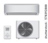 air conditioner parts set ... | Shutterstock .eps vector #578392888