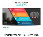 abstract triangle business... | Shutterstock .eps vector #578395408