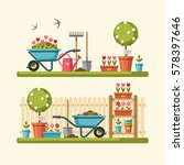 concept of gardening. garden... | Shutterstock .eps vector #578397646