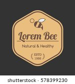 honey bee tag badge for shop...   Shutterstock .eps vector #578399230