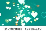 hearts of abstract turquoise | Shutterstock . vector #578401150