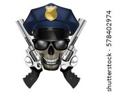 skull with sunglasses in a...   Shutterstock .eps vector #578402974