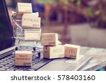 cartons of financial investment ... | Shutterstock . vector #578403160