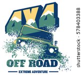 off road car logo  safari suv ... | Shutterstock .eps vector #578403388