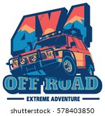 off road car logo  safari suv ... | Shutterstock .eps vector #578403850