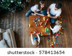 happy family mother father... | Shutterstock . vector #578413654