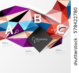 triangle mosaic vector abstract ... | Shutterstock .eps vector #578422780