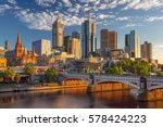 City of Melbourne. Cityscape image of Melbourne, Australia during summer sunrise.