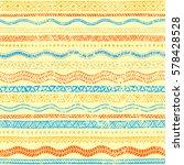 wavy seamless pattern. vintage... | Shutterstock .eps vector #578428528