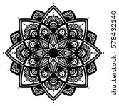 mandala. coloring book pages.... | Shutterstock .eps vector #578432140