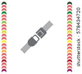 seat belt vector icon. safety... | Shutterstock .eps vector #578434720