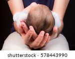 baby in father hands | Shutterstock . vector #578443990