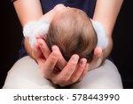 baby in father hands | Shutterstock . vector #578443990