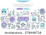 car service illustration with... | Shutterstock .eps vector #578448718