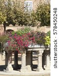 Small photo of Main square Lisle sur Tarn is a medieval village Tarn Midi Pyrenees France