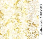 vector gold on white asian... | Shutterstock .eps vector #578453899