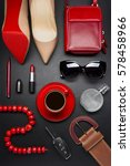 woman accessories  clothing ... | Shutterstock . vector #578458966