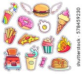 trendy cool set of fast food... | Shutterstock .eps vector #578459230