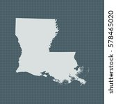 map of louisiana | Shutterstock .eps vector #578465020