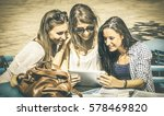 young happy women studying and... | Shutterstock . vector #578469820