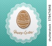 Happy Easter Greeting Card Wit...