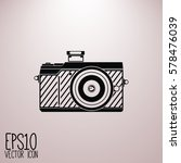 photo camera isolated vector... | Shutterstock .eps vector #578476039