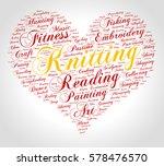 knitting. word cloud  heart ... | Shutterstock .eps vector #578476570