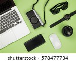 flat lay style picture of... | Shutterstock . vector #578477734