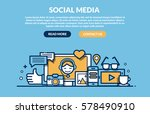 social media concept for web... | Shutterstock .eps vector #578490910