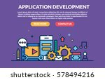 application development concept ...