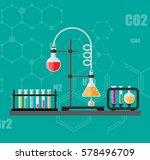 laboratory equipment  jars ... | Shutterstock .eps vector #578496709