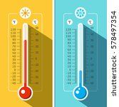 thermometer icons. vector... | Shutterstock .eps vector #578497354
