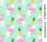 tropical trendy seamless... | Shutterstock .eps vector #578497894