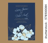 navy blue wedding invitation... | Shutterstock .eps vector #578500084