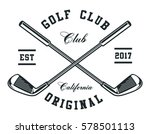 Stock vector golf clubs 578501113