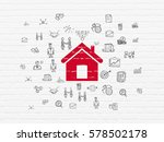 finance concept  painted red... | Shutterstock . vector #578502178